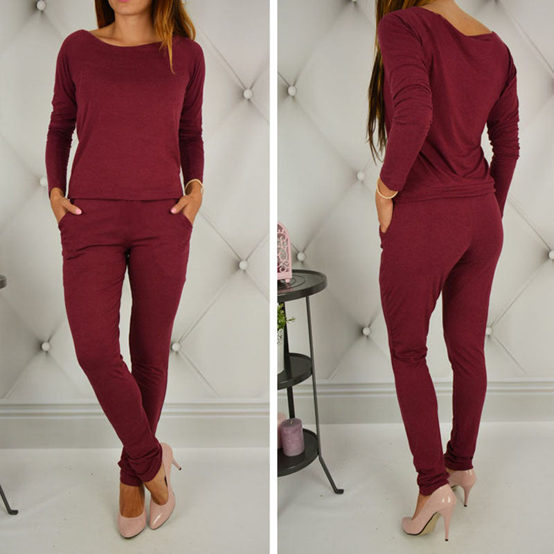 Womens Sexy Jumpsuit Overalls Long Sleeve Casual Rompers Summer Off