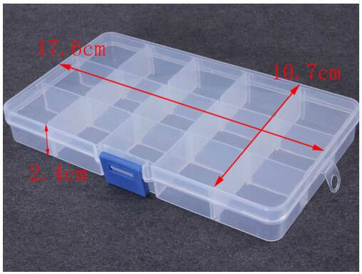 XINYAO 7 Slots Adjustable Plastic Jewelry Box Storage Case Craft