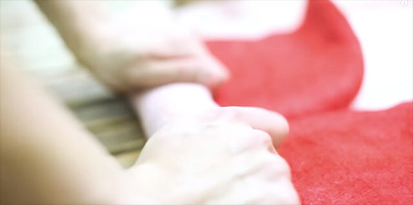 Rolling our Felt By Hand