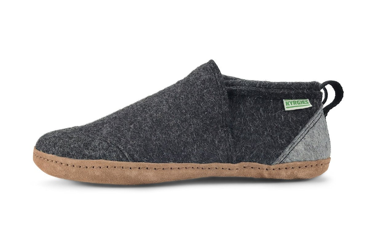 All Natural Tengries House Shoes - Charcoal - Womens