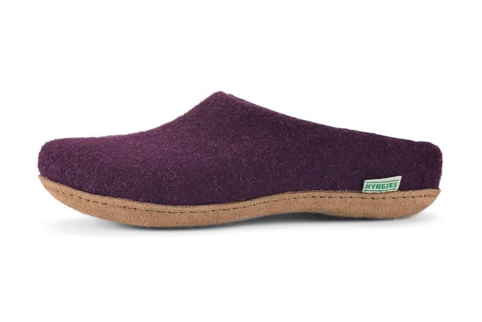 Kyrgies All Natural Molded Sole - Low Back - Plum Womens
