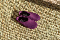 Kyrgies Classic Wool House Shoes - Low-Back - Plum Mens