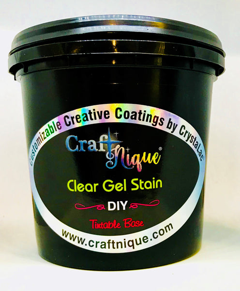 CraftNique Clear Gel Stain/Glaze & DIY Tintable Base