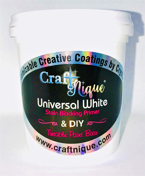 Universal White DIY  Tintable Paint Base, Primer & Top Coat All In One.