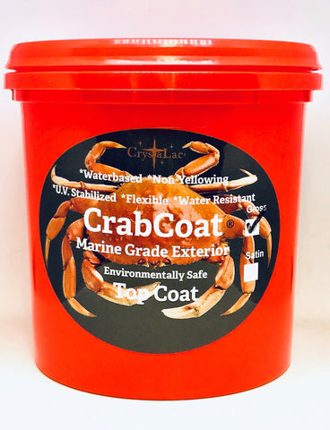 CrabCoat Exterior Marine Grade Finish. UV Stabilized and Water Clean-Up. Environmentally Safe