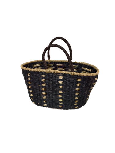 Seagrass Oval Bag - VAS11262B (19x10x11