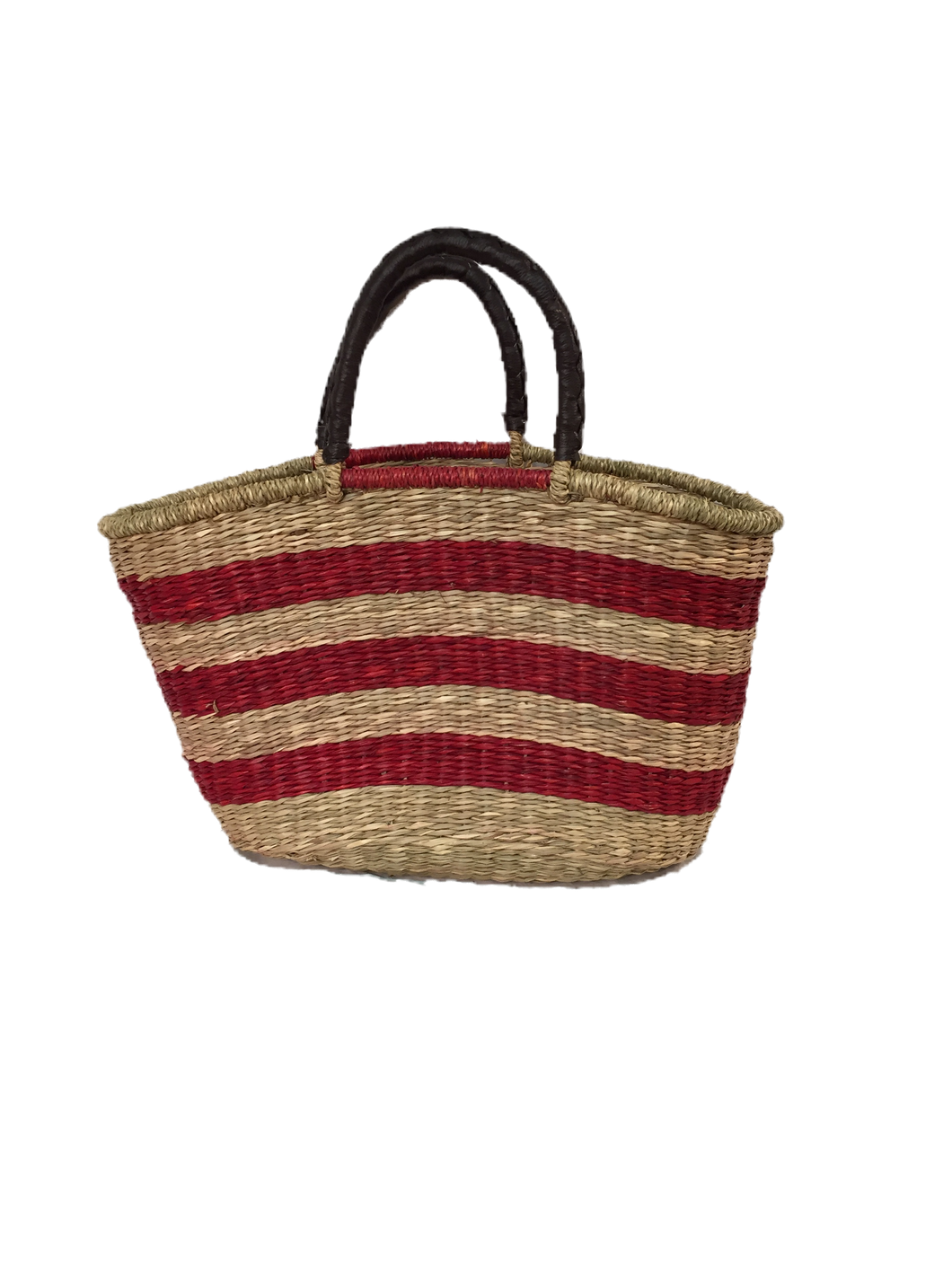 Seagrass Oval Bag - VAS11262RED (19x10x11