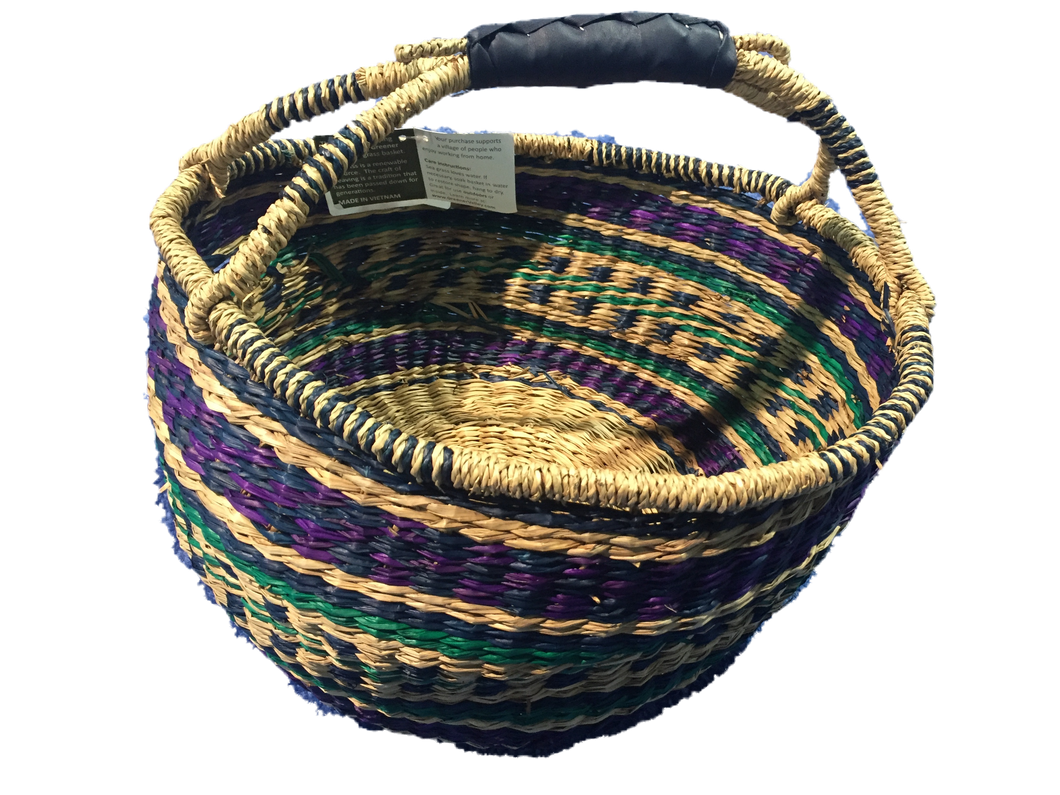 Seagrass Round Bag - VAS11651 (15x8