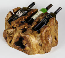 Wooden Wine Bottle Holder - 3 - Wall Mount