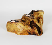 Hand-Crafted Root Wood Live Edge Candle Holder -3