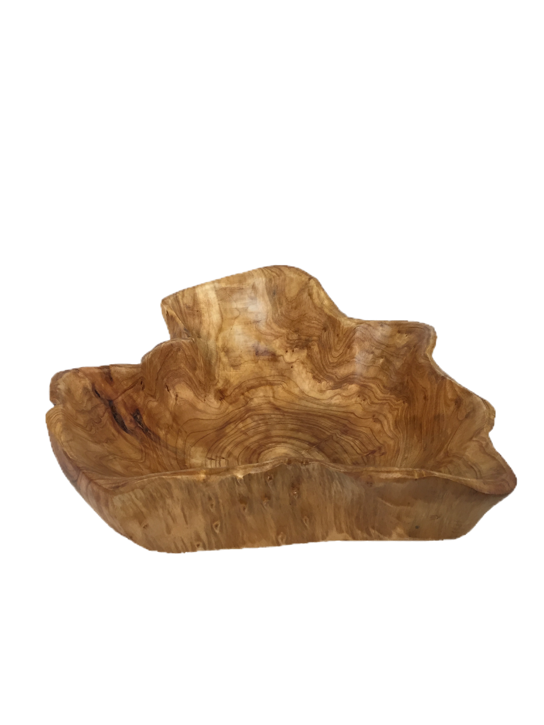 Hand-Crafted Root Wood Live Edge Bowl - Large (18-19