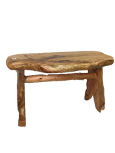 "Hand-Crafted Root Wood Live Edge Bench - Medium (L 28"" / H 18"")"
