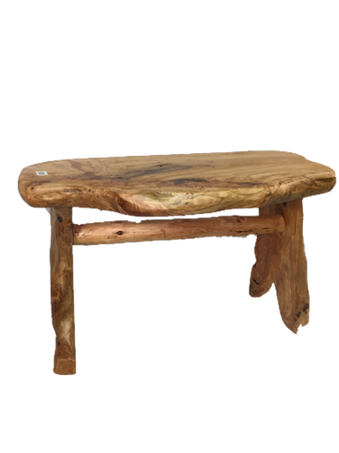 Hand-Crafted Root Wood Live Edge Bench - Medium (L 28