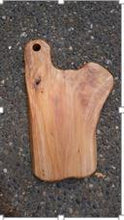 "Hand-Crafted Root Wood Live Edge Cheese/Cutting Board with hole (8-9"" x 14"" x 1.5"")"