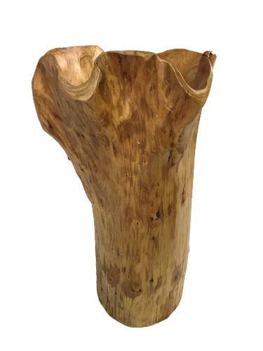 Hand-Crafted Root Wood Live Edge Tall Bowl - Small (10-11