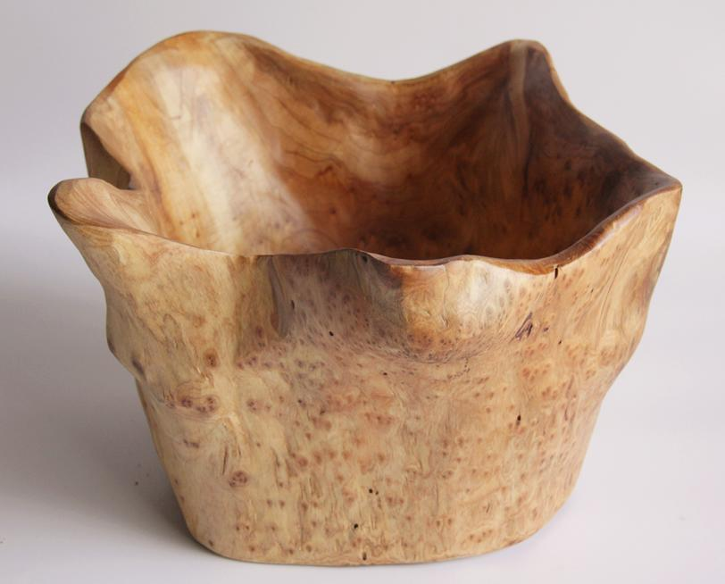 Hand-Crafted Root Wood Live Edge High Bowl - Medium (10-11