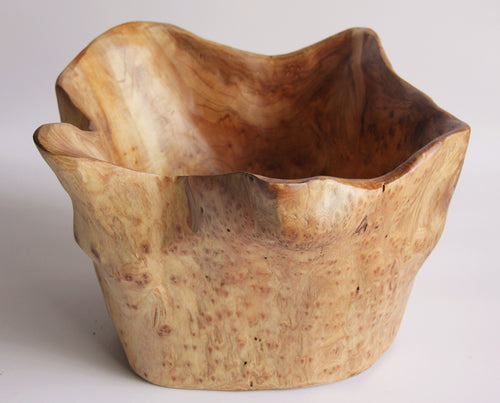Wooden High Bowl - Medium (10-11