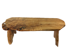 "Hand-Crafted Root Wood Live Edge Bench - Long (L 40"" / H 18"")"