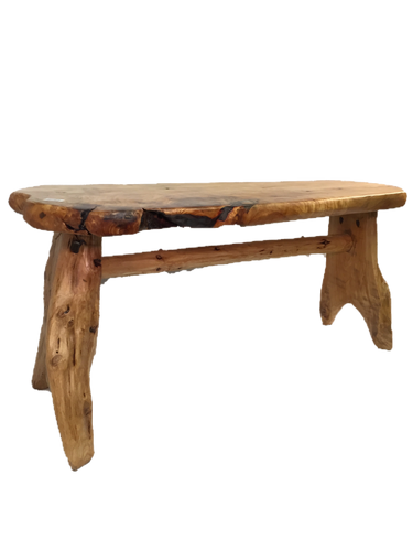 Hand-Crafted Root Wood Live Edge Bench - Long (L 40