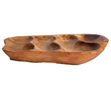 "Hand-Crafted Root Wood Live Edge Divided Platter - 4 divisions (17-19"" / 2"")"