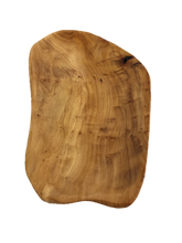 "Hand-Crafted Root Wood Live Edge Platter - Small (12-13"" / 2"")"