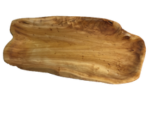 "Hand-Crafted Root Wood Live Edge Platter - Medium-Large (17-19"" / 2"")"