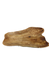 "Hand-Crafted Root Wood Live Edge Platter - Large (20-21"" / 2"")"