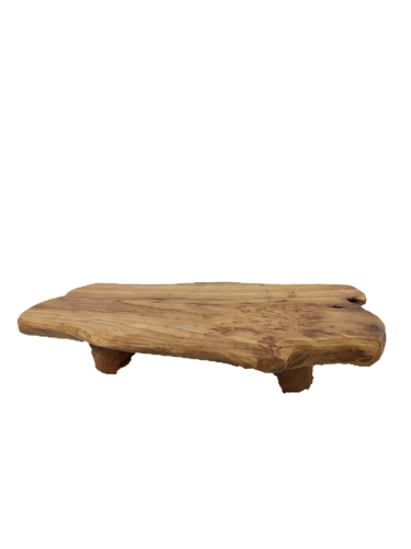 Hand-Crafted Root Wood Live Edge Tray with Feet