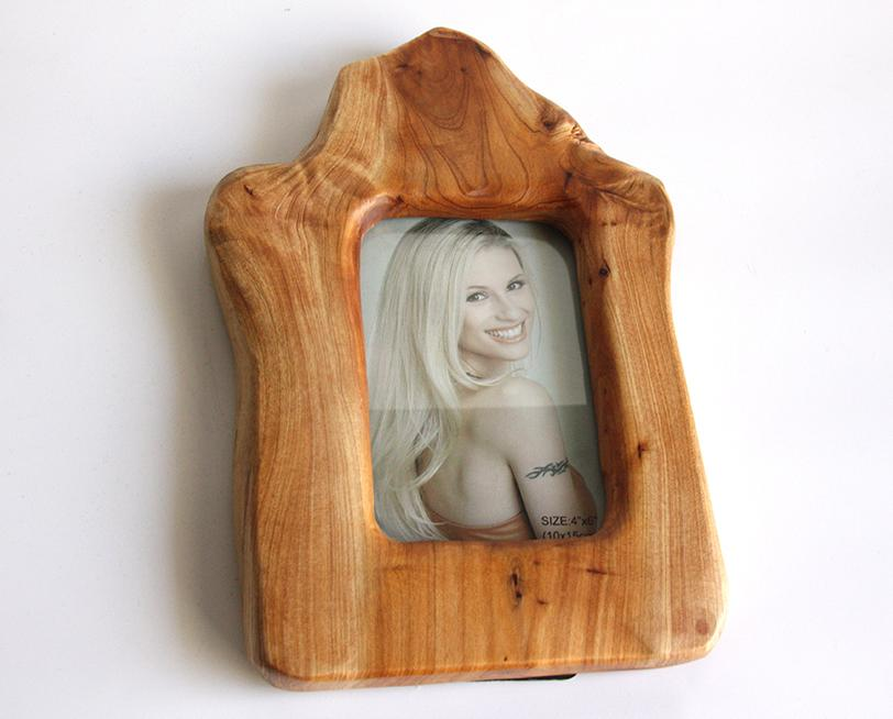 Hand-Crafted Root Wood Live Edge Picture Frame - 6