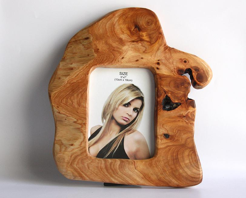 Hand-Crafted Root Wood Live Edge Picture Frame - 7