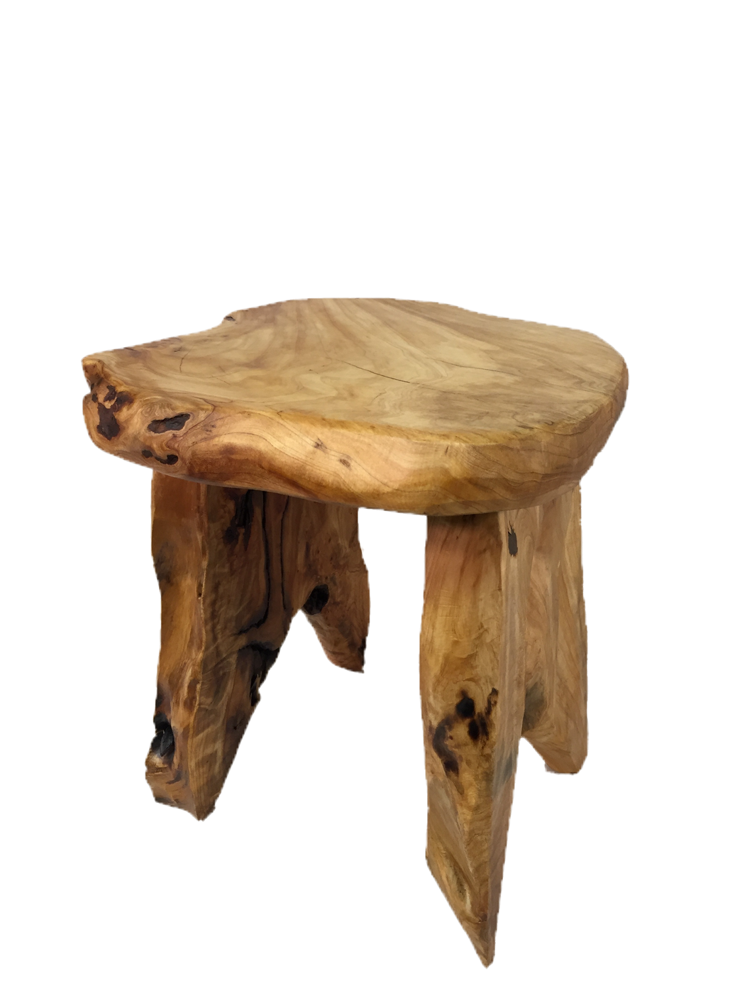 Hand-Crafted Root Wood Live Edge Wood Table (16