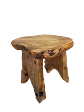 "Hand-Crafted Root Wood Live Edge Wood Table (16"")"