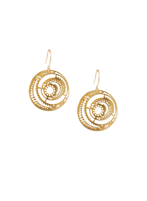 Ascend Hanging Disc Earrings