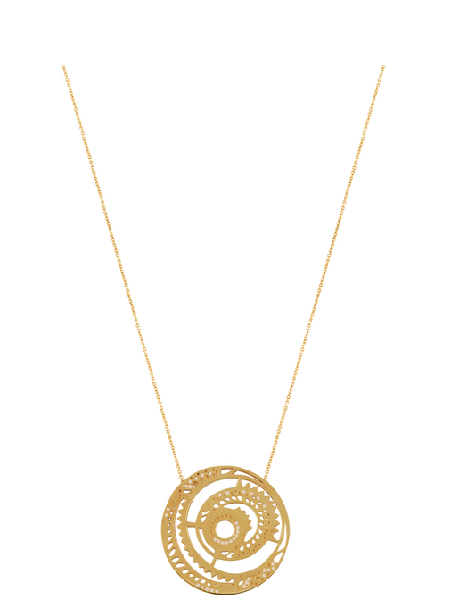 Ascend Signature Disc Necklace with Diamonds