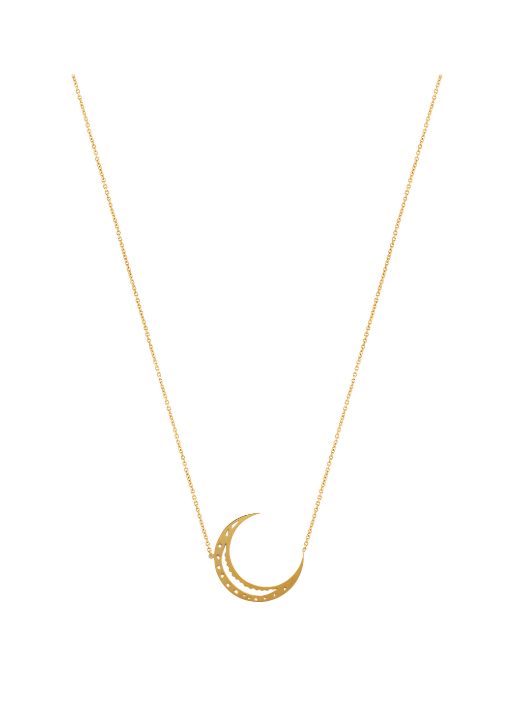 Ascend Crescent Moon Pendent Necklace