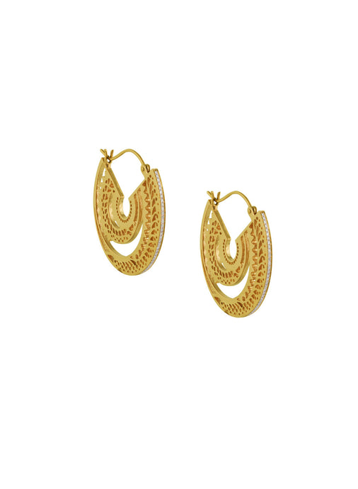 Ascend Gold and Diamond Earrings