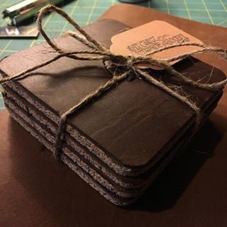 Thirsty Leather Coasters