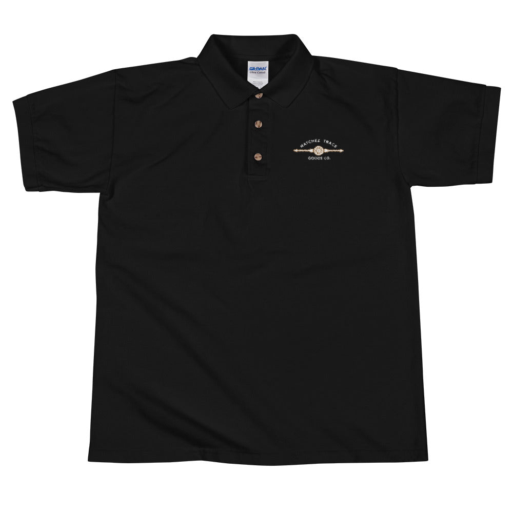 Natchez Embroidered Polo