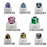 10 Designs Leopard Printed Fidget Cube Camouflage Graffiti Anti Stress Fidget Cube Decompression Toy With Retail Box CCA5918 100pcs