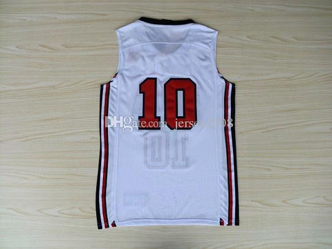 #10 white Jersey Dream Team Authentic Jersey USA 1992 Olympic Games Basketball Jersey Best quality Size S--XXL