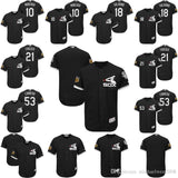 10 Yoan Moncada 18 Tyler Saladino 21 Todd Frazier 53 Melky Cabrera 2017 Spring Training Chicago White Sox Customized Jersey