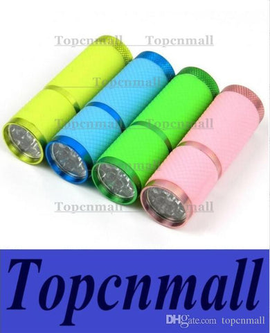1000pcs Mini Torch Flashlight Super Bright Luminous 9 LED Fireflies Portable 4 Colors Hiking Camping Outdoor Flashlights