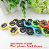 100pcs EDC Fidget Spinner toy finger spinner toy Hand tri spinner HandSpinner EDC Toy For Decompression Anxiety Toys with retailed box Free
