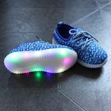 10pcs LED Light Up Shoes New Kids LED Light Sport Shoes For Boys Girls Causal Running Sporting Lumineuse Glowing Shoes