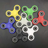 10pcs/lot epackt  Free Shipping Fidget spinner Toy ABS Plastic EDC Hand Spinner fidget toys 2017 New Styles Glow In The dark