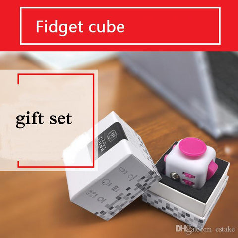 11 color Newest Fidget cube dull polish best quatity with gift package the first American decompression anxiety Toys black case 660070