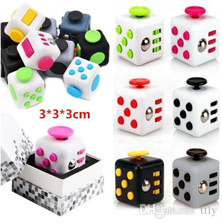 11 colors 2017 magic New novelty Fidget cube the world's first American decompression anxiety Toys developmet toy for kids and adults