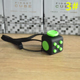 11 kinds 2.2CM Mini Fidget Cube Vinyl Desk Finger Toy Squeeze Fun Stress Reliever Click Glide Flip Spin Breathe Roll With Box