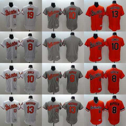 2016 Men's Elite Flexbase Baltimore Orioles #19 Chris Davis #8 Cal Ripken Jr #10 Adam Jones #13 Manny Machado Baseball Jerseys Free Shipping