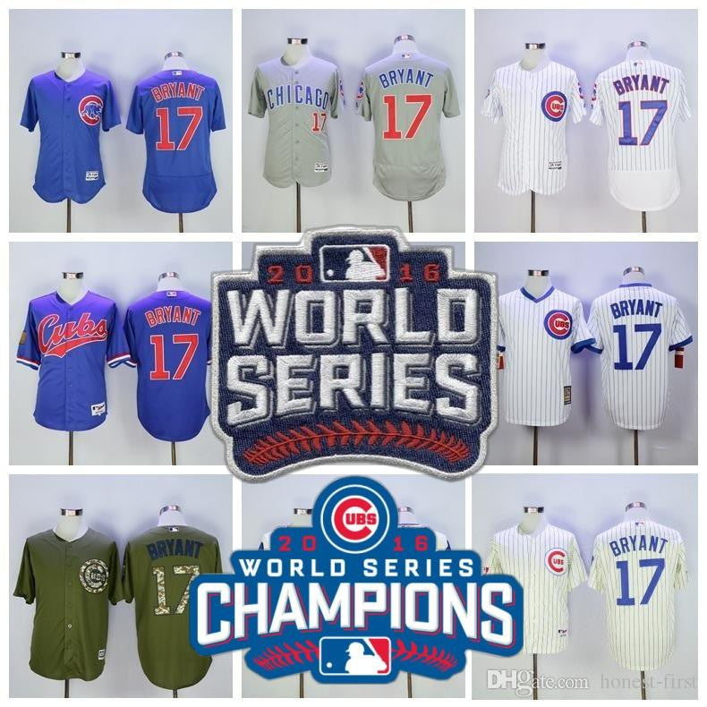 ef02a4ad0ad ... Cubs 18 Ben Zobrist World Series Champions Gold Program Flexbase Jersey  2016 World Series Champions patch Chicago ...